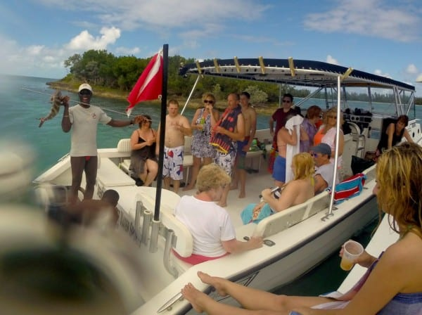 Cruising around the Sea of Abaco with the best group of people in the world & the best guide in the world!