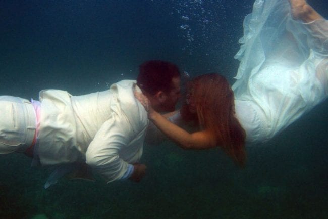 Our Underwater Wedding Photos: Why We'll Never Be America's Next Top Models thumbnail