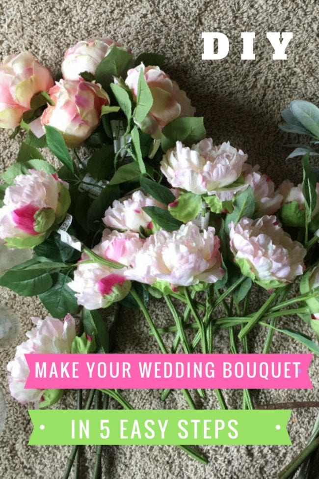 How to make a fake flower wedding bouquet angie away diy wedding bouquet mightylinksfo