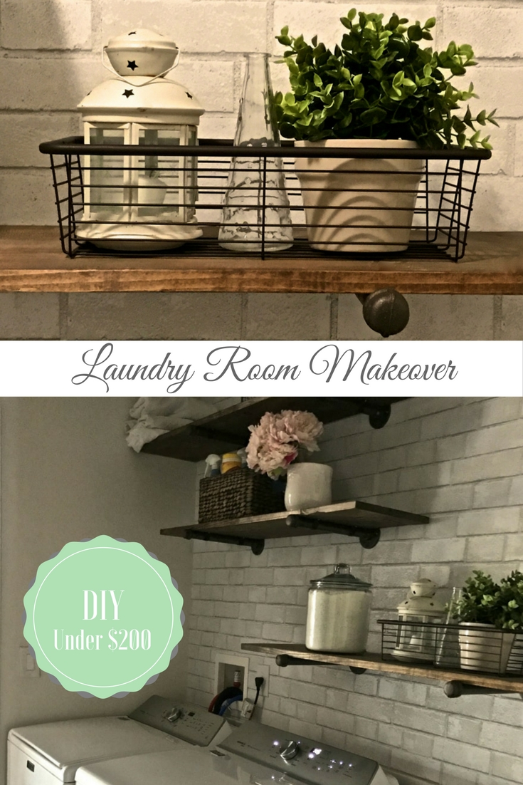 How to Makeover a Tiny Laundry Room - DIY tutorial by AngieAway.com