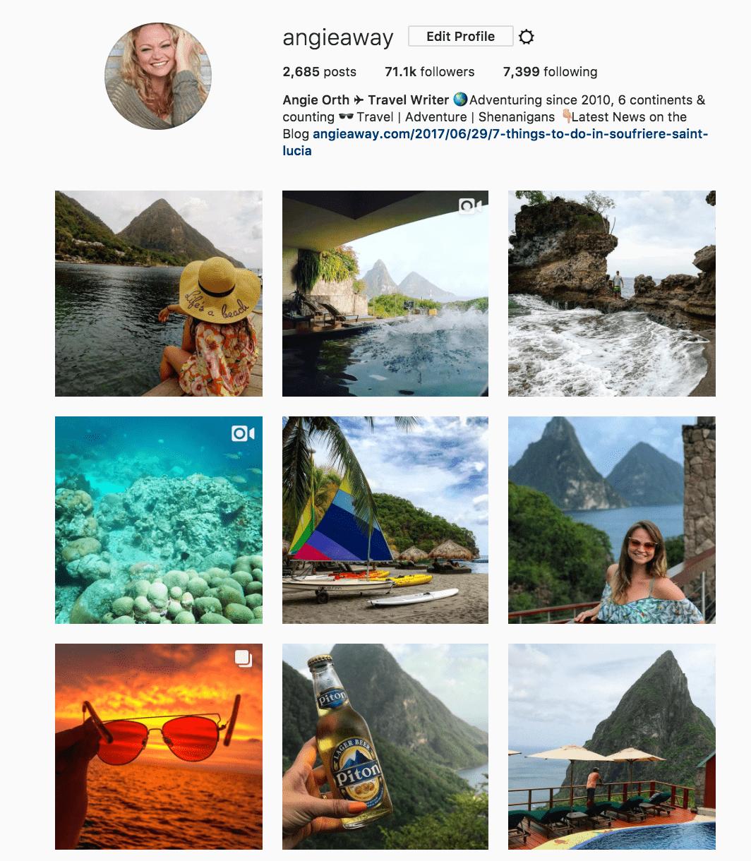 Angie Away Instagram