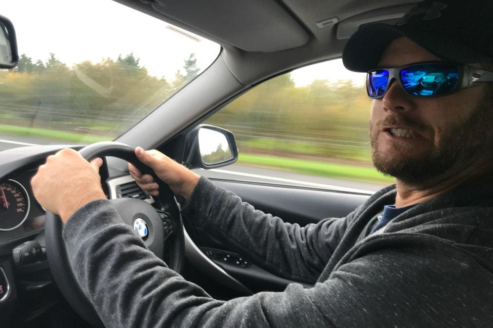 Rick driving in Ireland