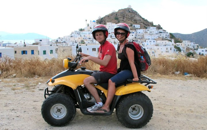 Angie Away and Nomadic Matt in Greece